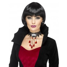 Halloweensky náhrdelník s brošňou