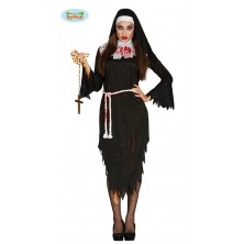 RELIGIEUSE ZOMBIE TAILLE - mníška kostým