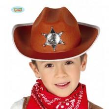 Kovbojský klobúk hnedý pre deti