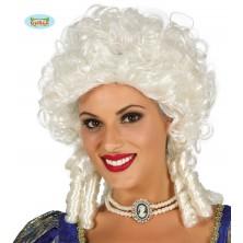 Markíza - biela dámska parochňa