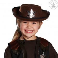 Detský kovbojský klobúk hnedý