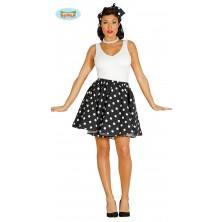 PIN UP - sukňa čiernobiela