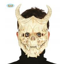 Maska SKULL s rohmi