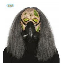 Maska - gázmaska s vlasmi