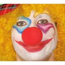 Molitanový klaunovsky nos červený