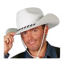 Kovbojský klobúk biely veľ. 57 - 58