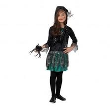 Pavúčie dievča - šaty s kapucňou