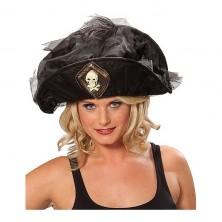 Pirátsky klobúk s lebkou