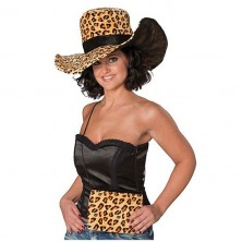 Dámsky klobúk Leopard s kabelkou