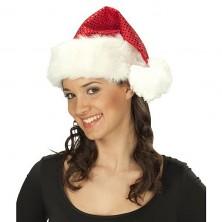 Vianočná čiapočka flitrová