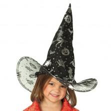 Detský čarodejnícky klobúk čierny