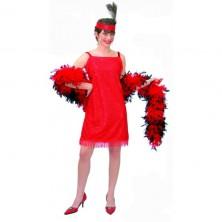 Charleston šaty červené veľ. 42-44