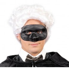 Maska čierna s nosom