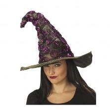Čarodejnícky klobúk čierno-fialový