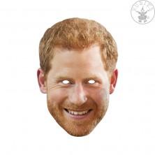 Princ Harry - kartónová maska pre dospelých