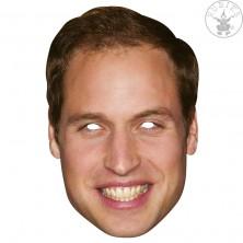 Princ William - kartónová maska pre dospelých