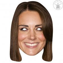 Princezná Catherine - kartónová maska pre dospelých