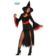 Kostým červená čarodejnice