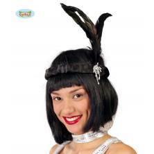 Charlestonovej čelenka čierna Guirca