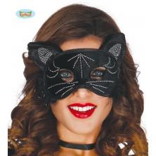 Mačacia maska čierna