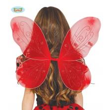 Červená lienky krídla 44 x 37 cm