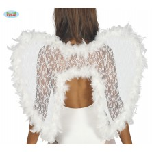 Biela anjelské krídla s labutienkou