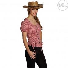 Slamený kovbojský klobúk