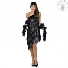 Čierne charlestonovej šaty