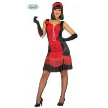 Charlestonovej šaty čierno-červené