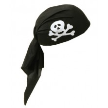 Pirát čierny s pásikom detský