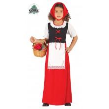 Červená Karkulka s šatkou a zásterou