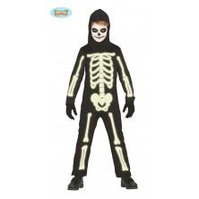 Detský kostým kostra fluoreskujúce