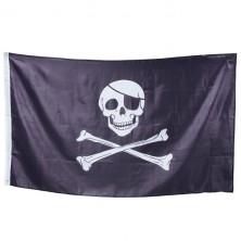 Vlajka pirátska 90 x 150 cm