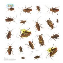 Dekorácie - 20 samolepiacich švábov