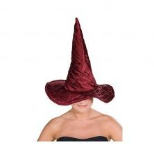 Čarodejnícky klobúk vínový lux