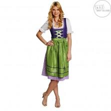 Dirndl zelený - bavorský kostým