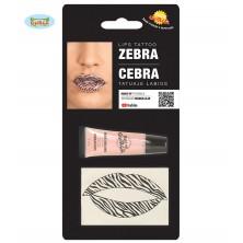 Tetovanie na pery zebra