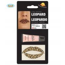Tetovanie na pery leopard