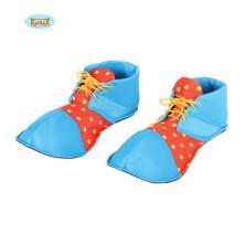 Klaunské topánky červeno-modré