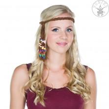 Hippie čelenka s korálkami