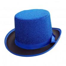 Cylinder Lurex modrý