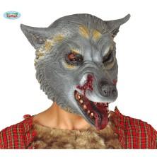 Latexová maska sivý vlk