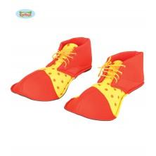Klaunské topánky červeno-žlté