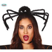 Čierny pavúk na vlasové spone