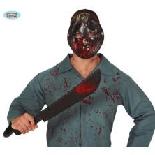 Zakrvavená maska a mačeta