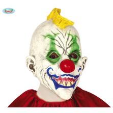 """Maska klauna so žltým """"kohútom"""""""