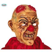 Maska klauna s useklýma rohama