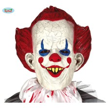 Maska klauna s červenými vlasmi