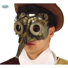Maska s nosom Steampunk