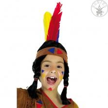 Indiánska čelenka látková